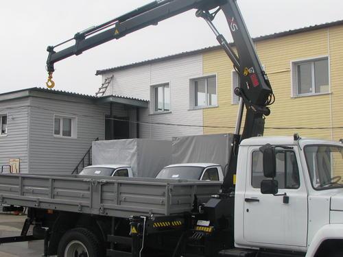 ГАЗ 3309 с манипулятором HIAB