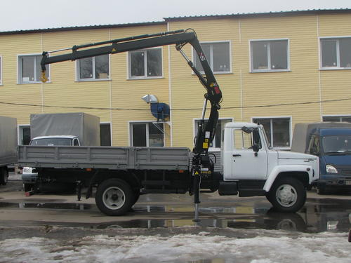 ГАЗ 3309 с манипулятором